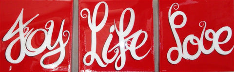 Life Words - Canvas Art Online Australia from Go Arty