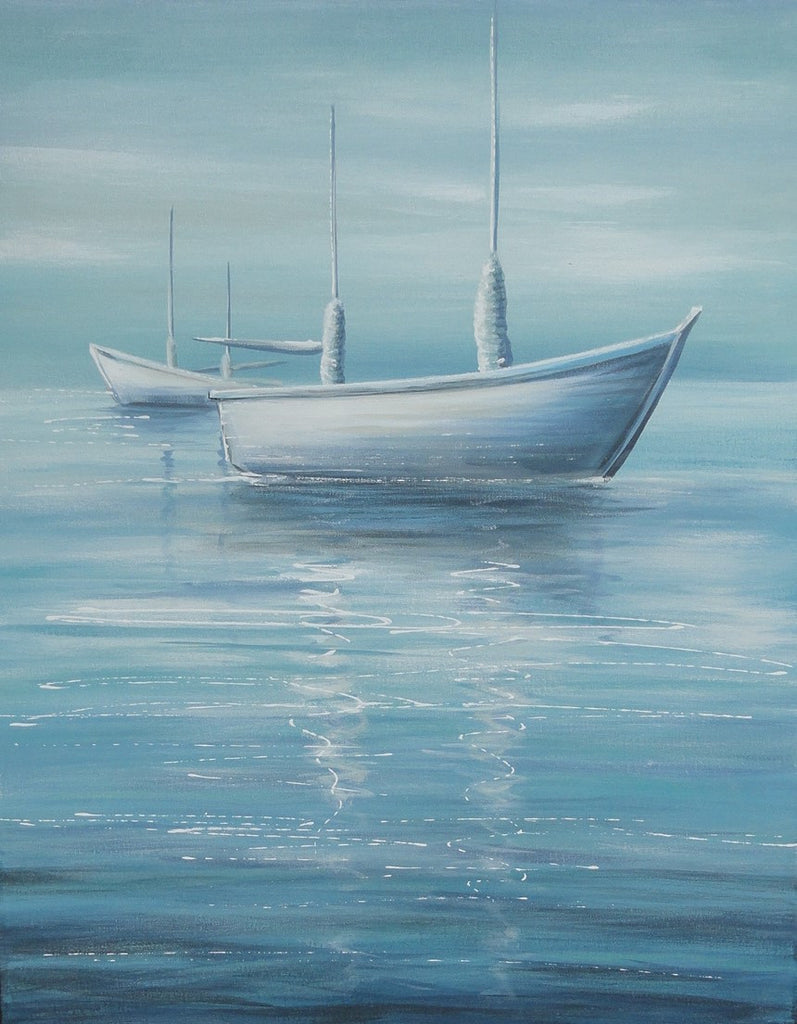 Misty Boat - Canvas Art Online Australia from Go Arty