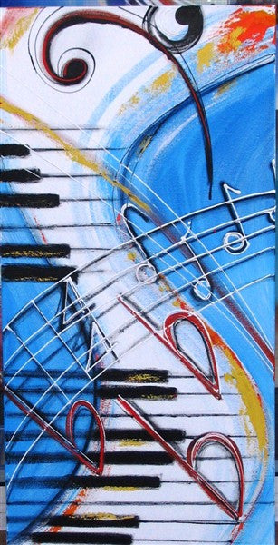 Musical Keyboard 2 - Canvas Art Online Australia from Go Arty