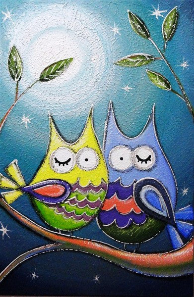 Nite Owl Bright - Canvas Art Online Australia from Go Arty