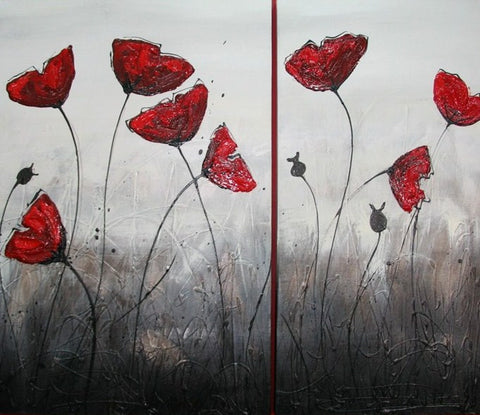 Poppy Lips 2 - Canvas Art Online Australia from Go Arty