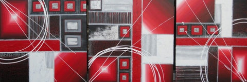 Red Gel Abstract In 3 - Canvas Art Online Australia from Go Arty