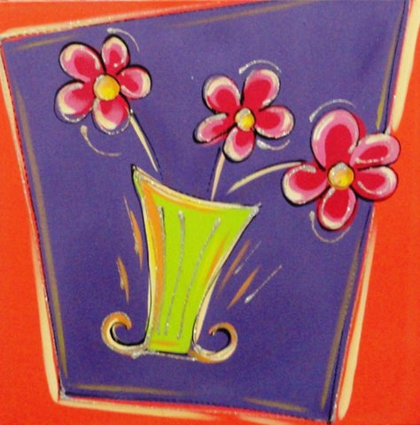 Retro Flowers - Canvas Art Online Australia from Go Arty