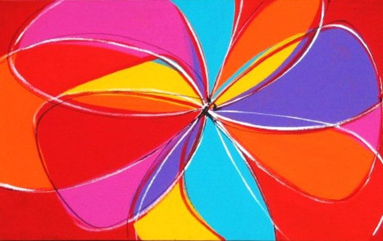 Ribbons Of Colour - Canvas Art Online Australia from Go Arty