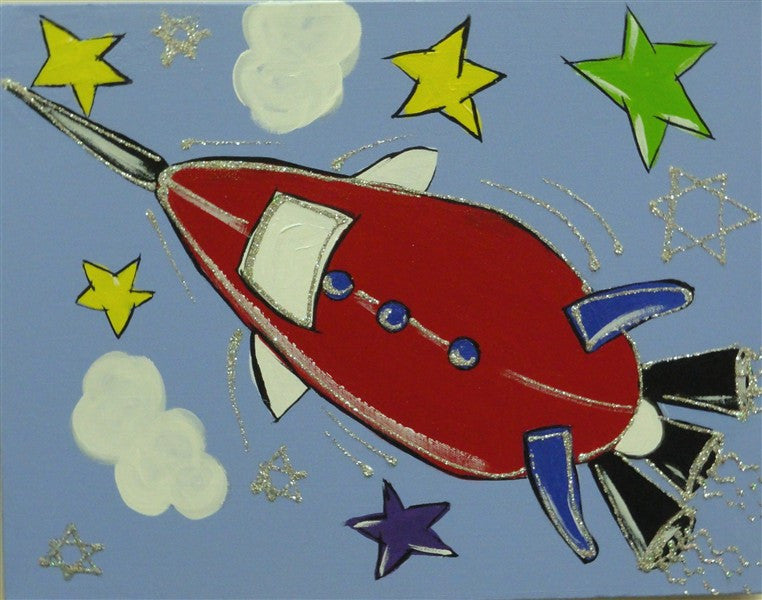 Rocket Ship - Canvas Art Online Australia from Go Arty