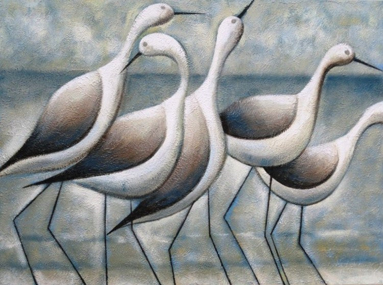 Seashore Birds - Canvas Art Online Australia from Go Arty