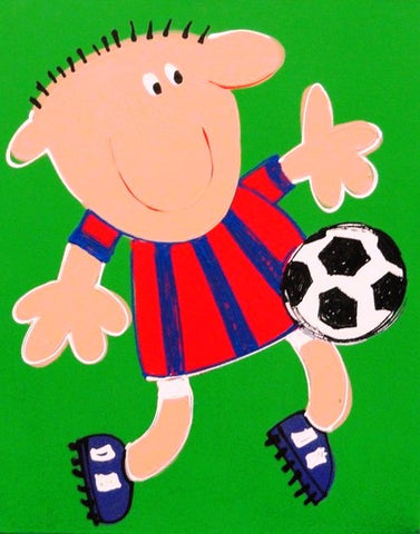 Soccer Boy - Canvas Art Online Australia from Go Arty