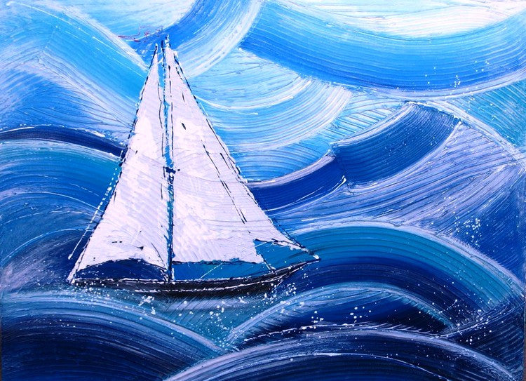 Solo Sailing - Canvas Art Online Australia from Go Arty