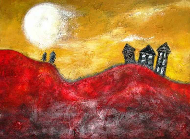 Spooky Moon - Canvas Art Online Australia from Go Arty