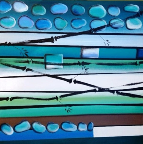 Stones & Bamboo In Harmony - Canvas Art Online Australia from Go Arty