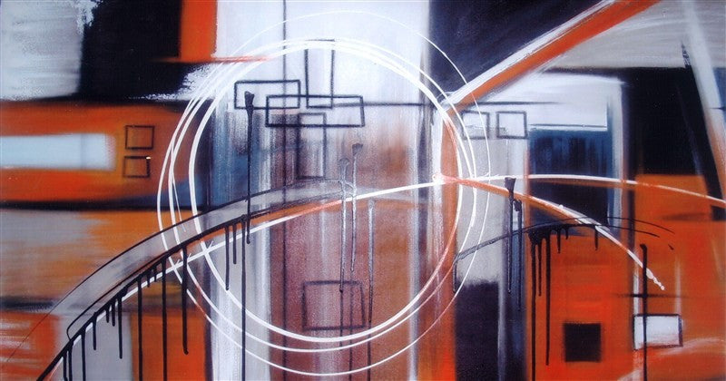 Storm In Orange - Canvas Art Online Australia from Go Arty
