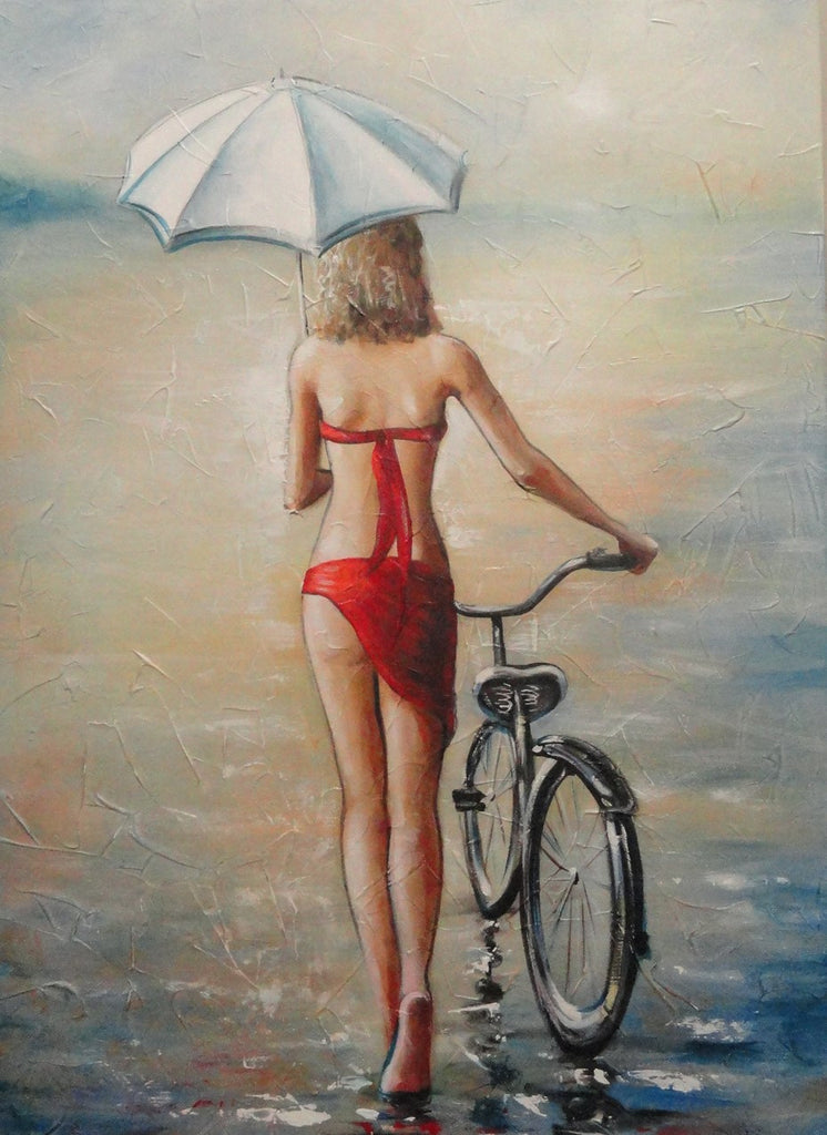Summer Stroll In Red - Canvas Art Online Australia from Go Arty
