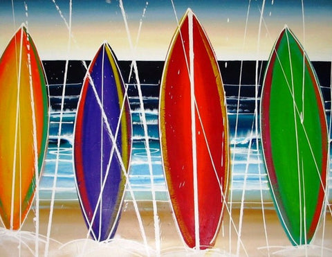 Surfboards 2 - Canvas Art Online Australia from Go Arty