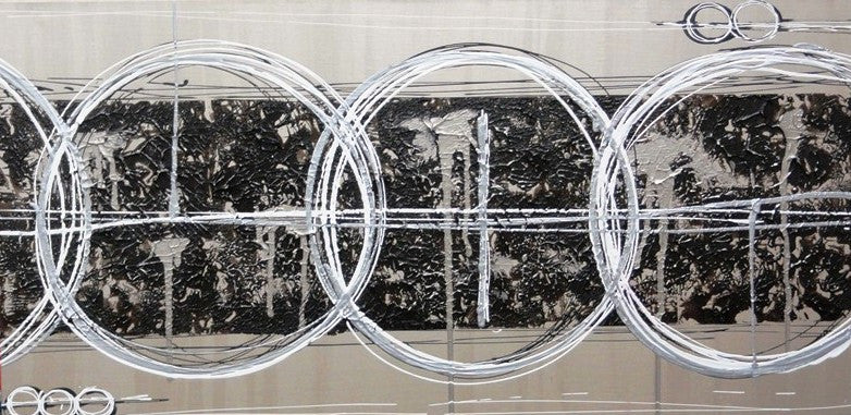 Three Rings In Neutrals - Canvas Art Online Australia from Go Arty