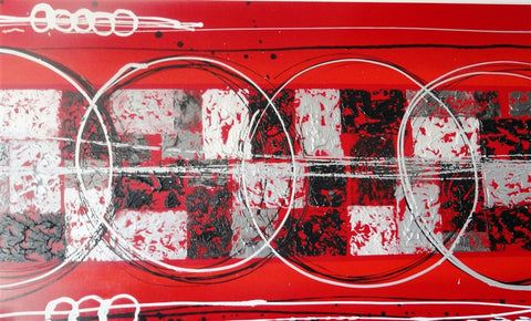 Three Rings In Red - Canvas Art Online Australia from Go Arty