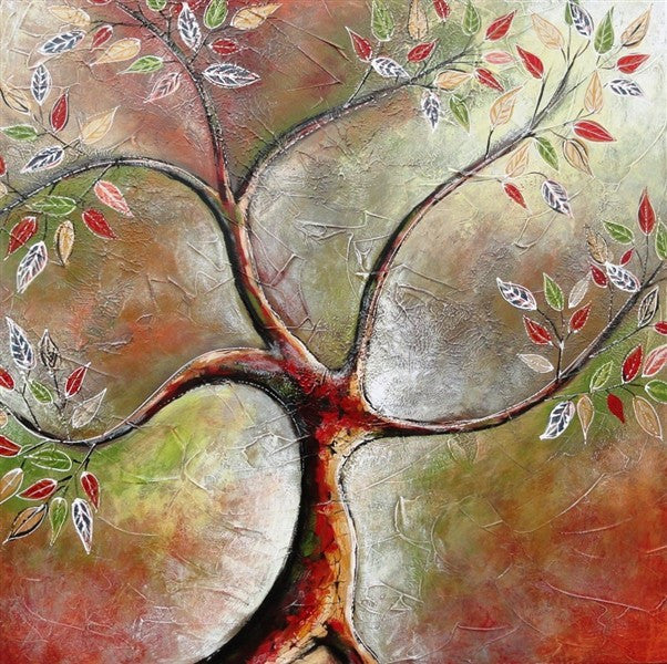 Tree Of Life Autumn Tones - Canvas Art Online Australia from Go Arty