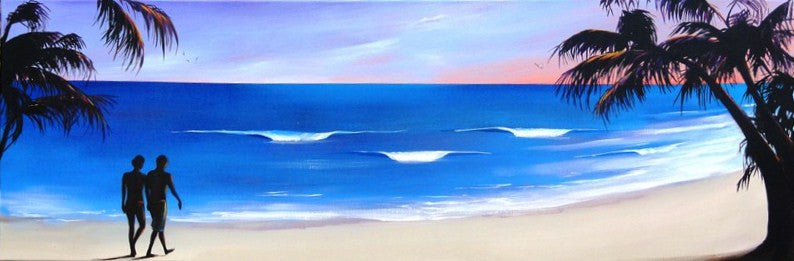 Walk On The Beach - Canvas Art Online Australia from Go Arty