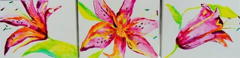Watercolour Lillies - Canvas Art Online Australia from Go Arty
