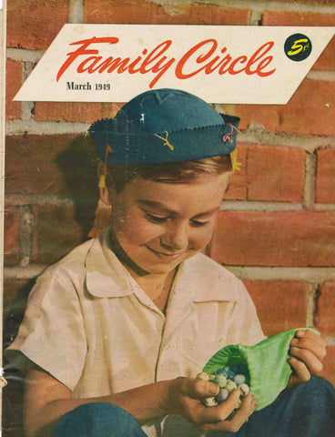 Family Circle March 1949 magazine cover