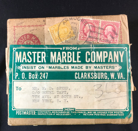 Master Marble original promotional shipping box