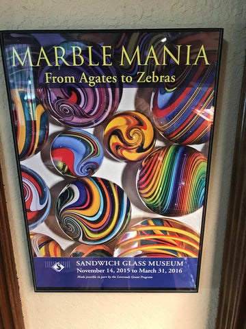 Sandwich Glass Museum Marble Poster