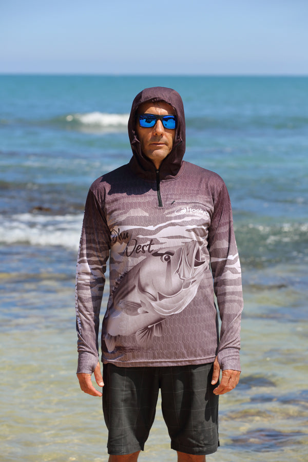 Adults Sun Safe UV 'Dhufish' HOODIE