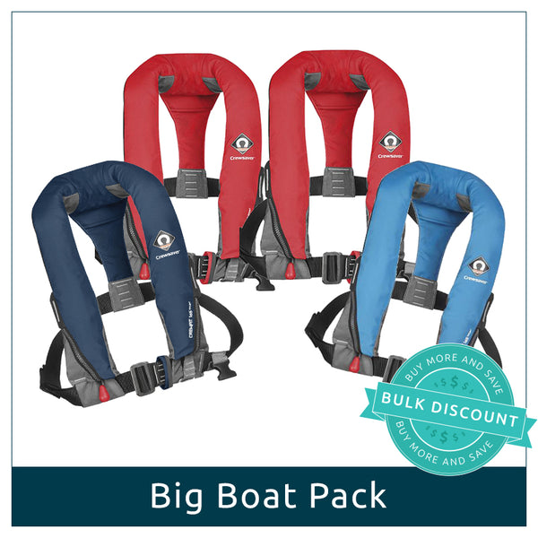 Big Boat Pack - 4 Manual Lifejackets (User-activated)