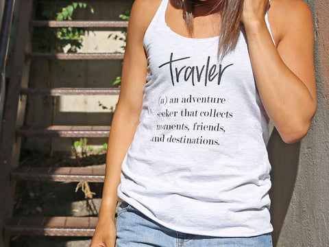 Travler Definition Women's White Tank Top
