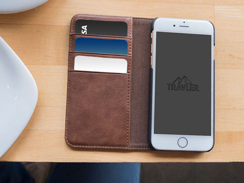 Premium Leather Phone Wallet - iPhone 7