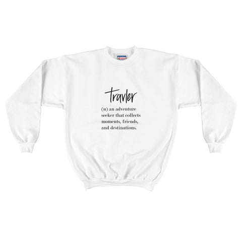 Travler Definition Men's Crewneck Sweatshirt White