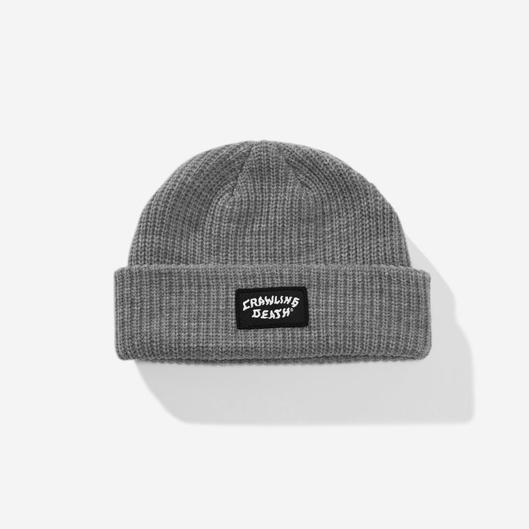 Patch Knit Beanie - Grey