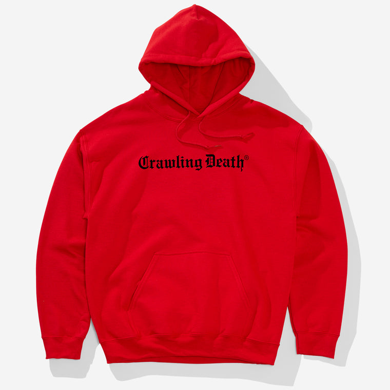 Gothic Logo Hood - Red