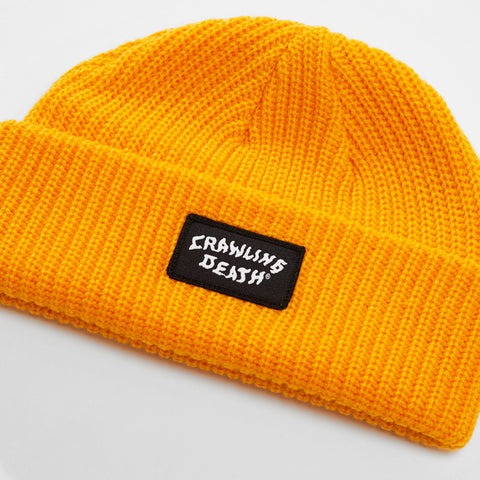 Patch Knit Beanie - Gold