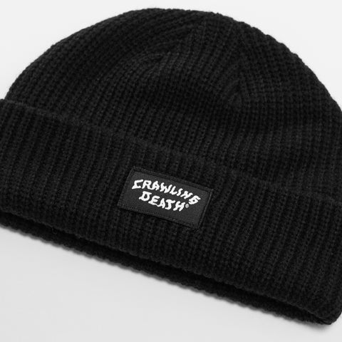 Patch Knit Beanie - Black