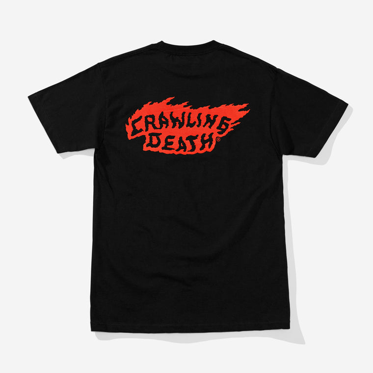 Flame Logo T-Shirt - Black
