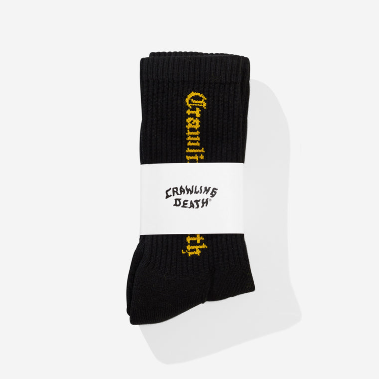 Gothic Logo Socks - Black