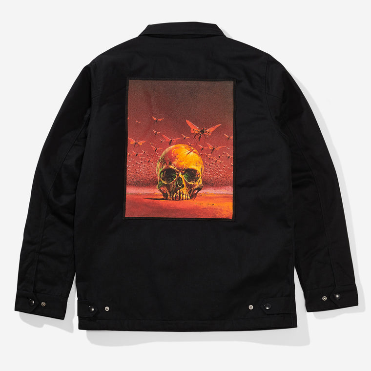 Skull Workers Jacket - Black