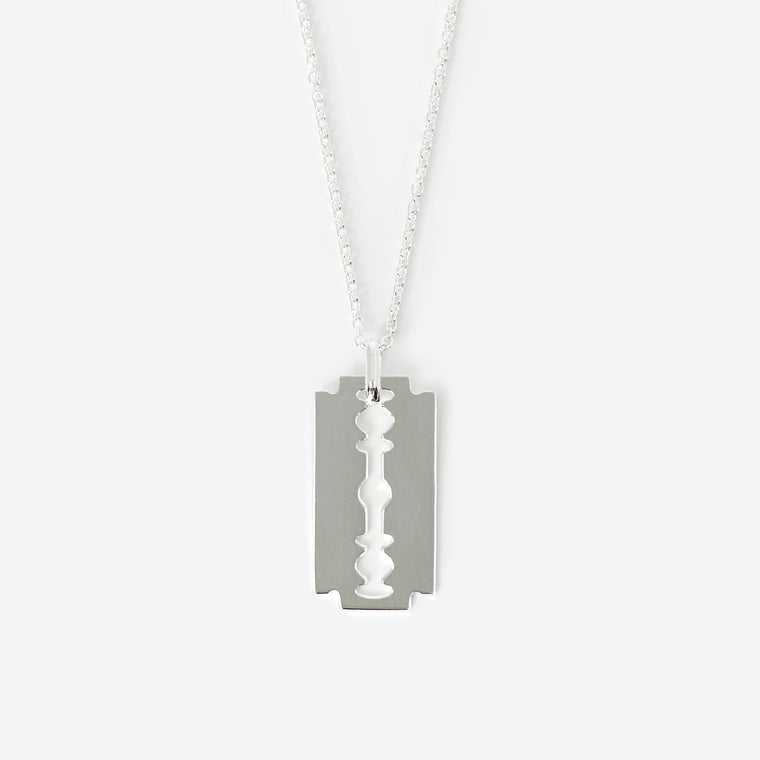 Silver Razor Necklace