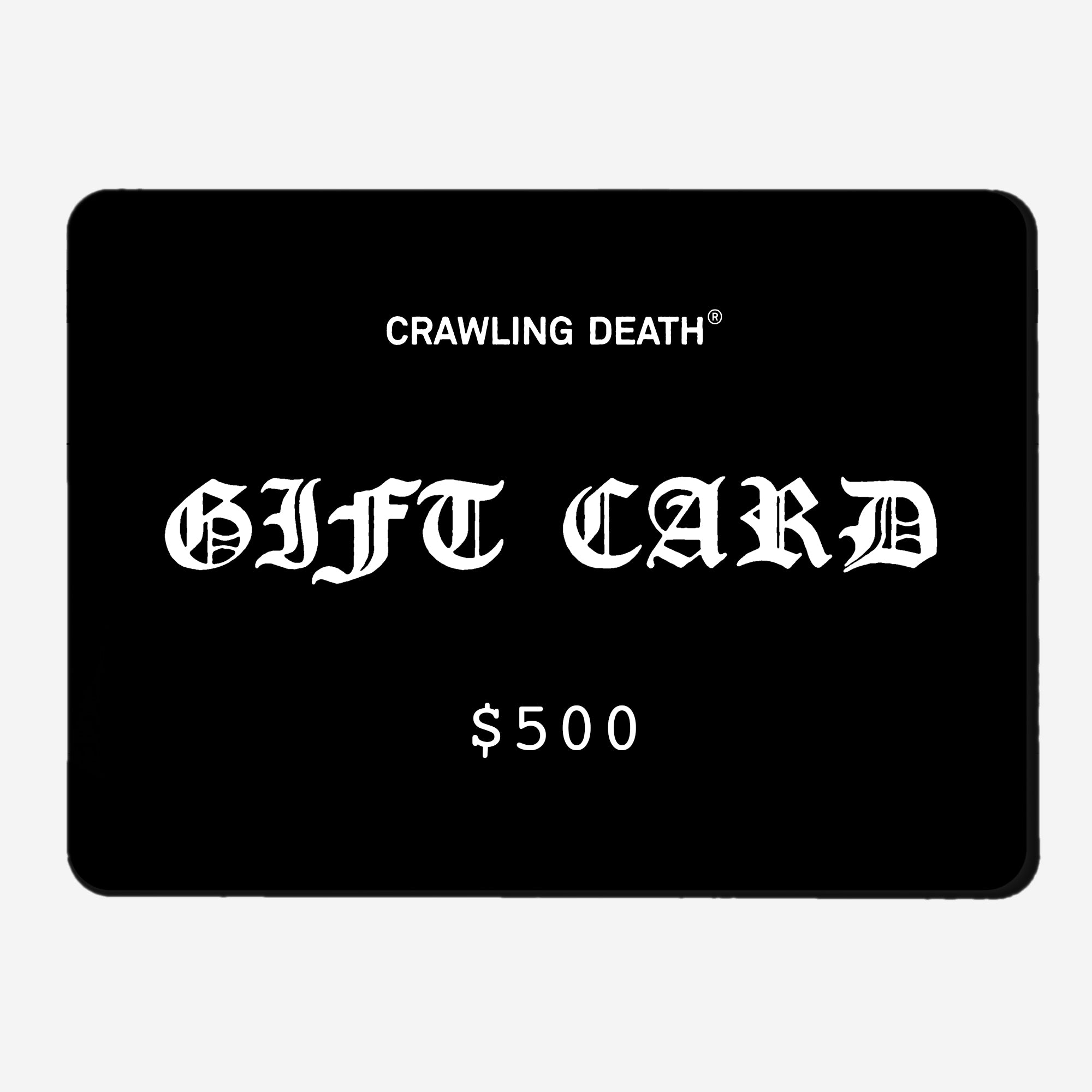 Email Gift Card - $500