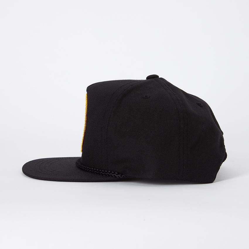 Tropical Flower Hat - Black