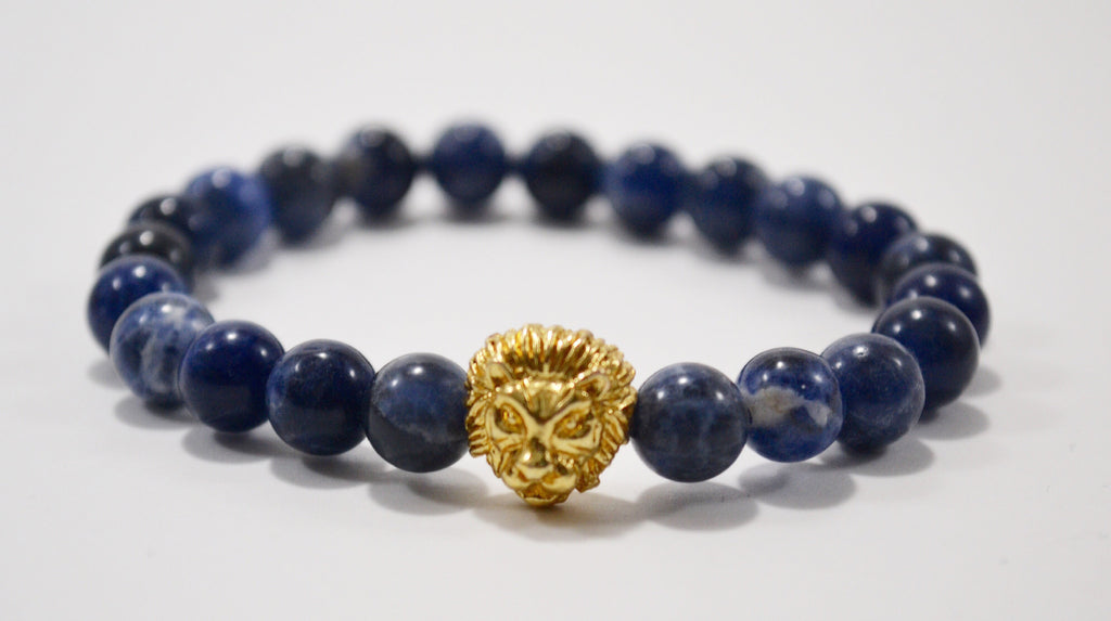 Limited Gold Savannah Blue Vein Stone Bracelet