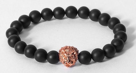 Rose Gold Savannah Agate Stone Bracelet