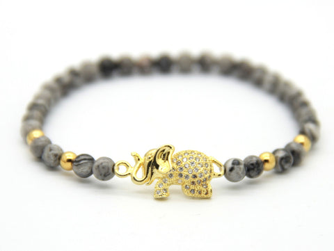 Gold Ellie Shadow Stone Bracelet