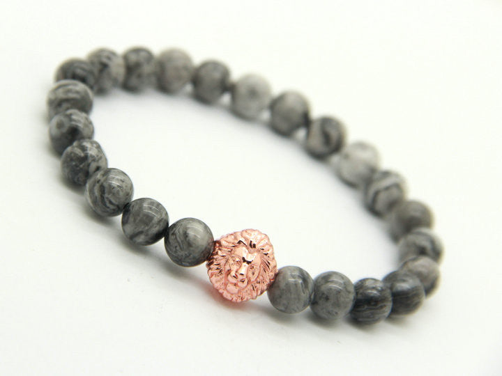 Savannah Rose Gold Shadow Stone Bracelet