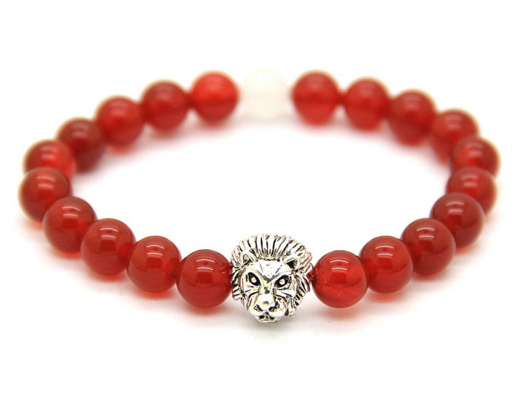 Limited Savannah Red Agate Stone Bracelet- Super Sale!