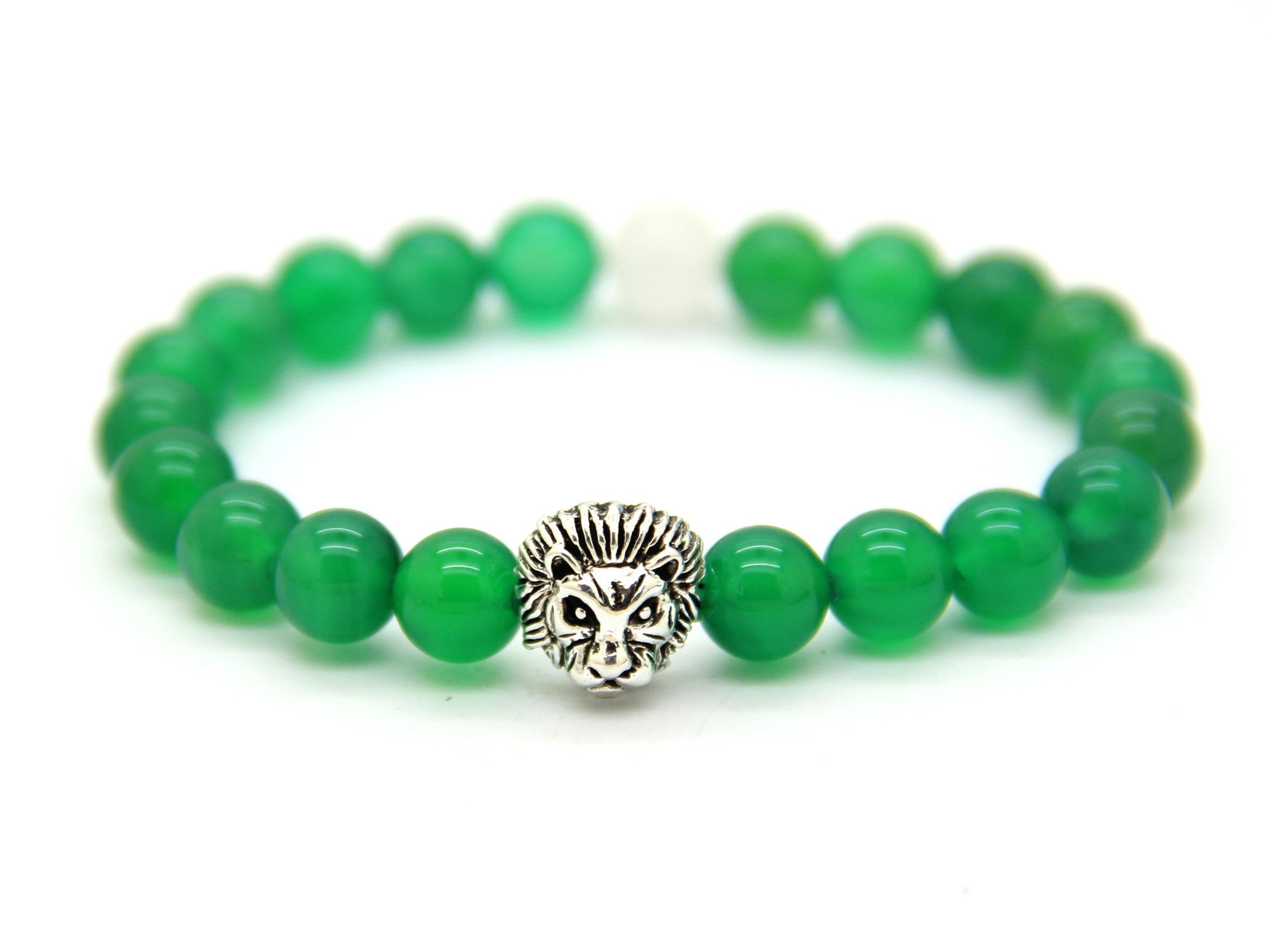 friendship green bracelet with jasper and beads lava imperial stone product