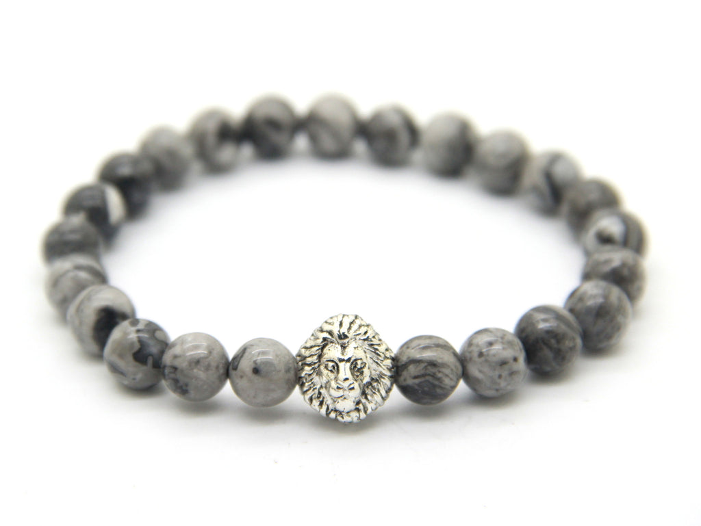 Savannah Silver Shadow Stone Bracelet