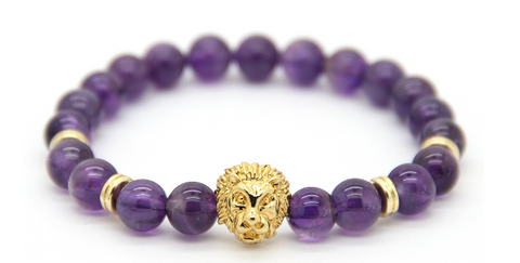 Savannah Purple Agate Stone Bracelet