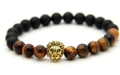 Savannah Tiger Eye Bracelet- Antique Gold