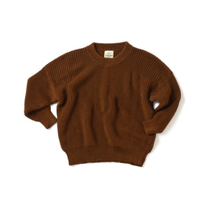 Chestnut Boxy Knit Sweater